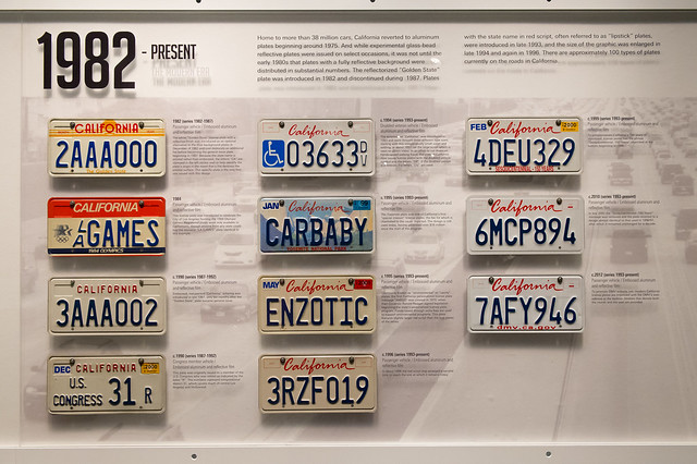California License Plates 1982 - Present