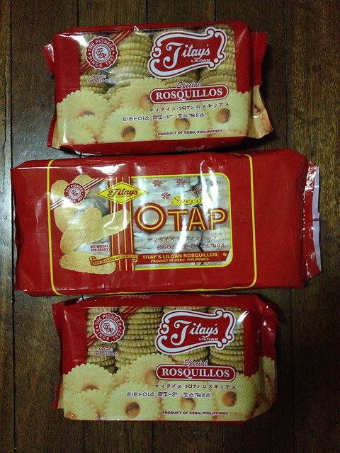 Titay's Rosquillos and Otap biscuits. Local goodies from Cebu!