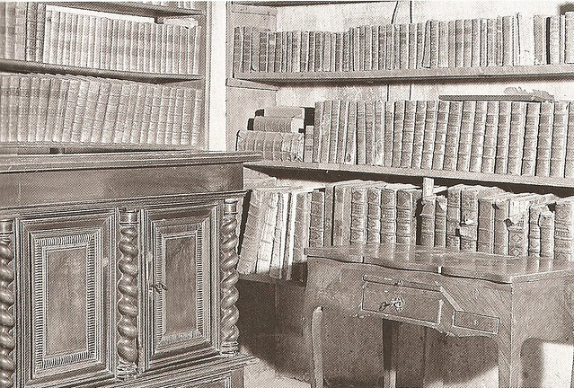 his library