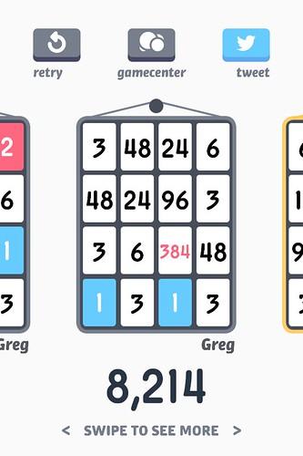 Threes 8,214 | by atduskgreg