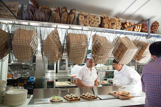 Inside the open kitchen