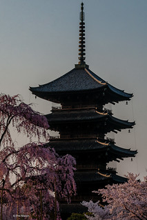 Day's first rays fall upon Tō-ji 5 story pagoda, Kyoto | by Phil Marion (173 million views - THANKS)