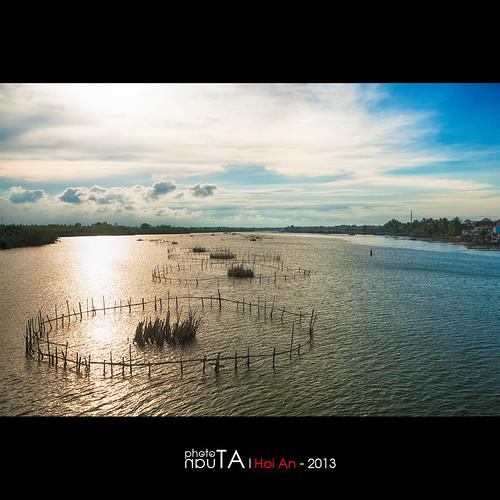 sunset river landscape raw vietnam hoian