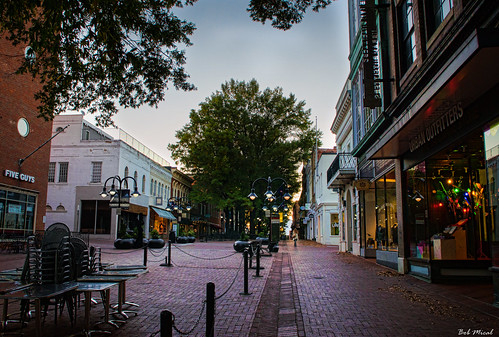 road street city sunrise outside outdoors virginia nikon downtown raw charlottesville dtm downtownmall cvilletomorrowfavorite d5100 bobmical