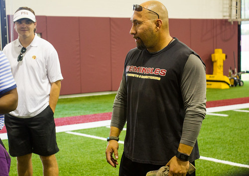 Head Strength and Conditioning Coach Vic Viloria inside the 92,000-square foot Albert J. Dunlap Athletic Training Facility in Tallahassee, Florida on October 8, 2013. | by flguardian2