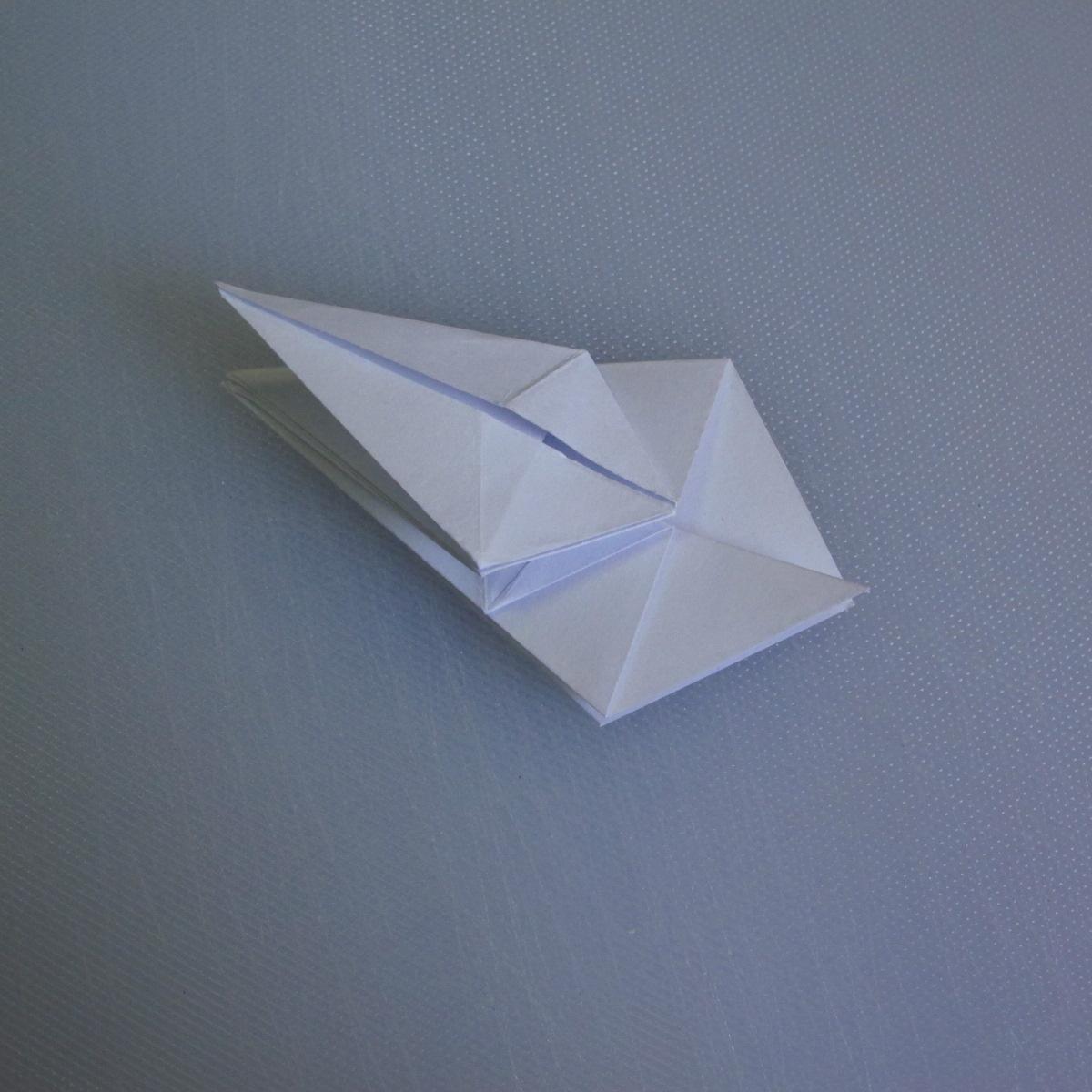 วิธีพับกระดาษเป็นรูปดอกลิลลี่ 014