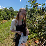 Emily in the orchard