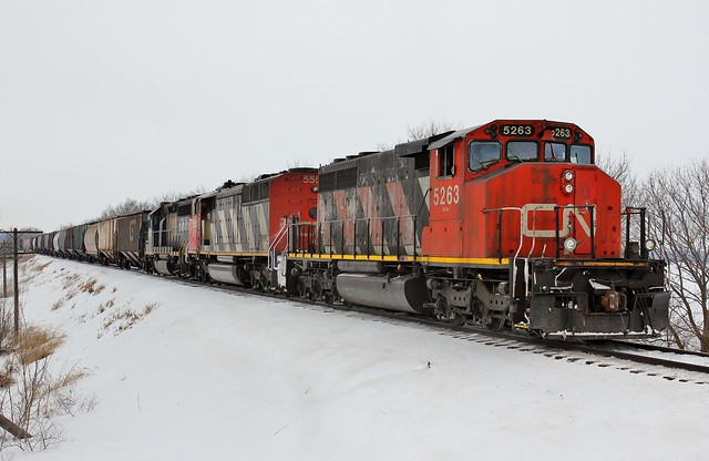 CN 5263 East in Burlington,Illinois on February 4,2014.