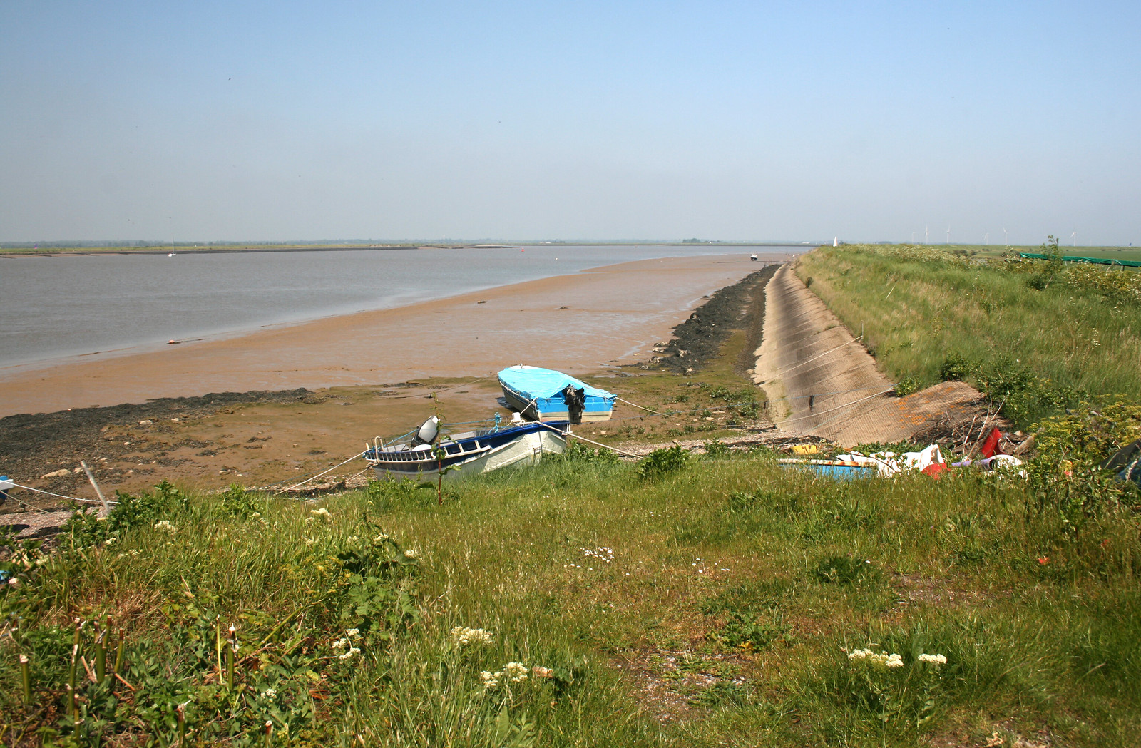The quay on Foulness Island