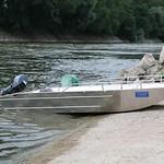 Barco de pesca de aluminio - Bote de aluminio con fondo plano y ligero