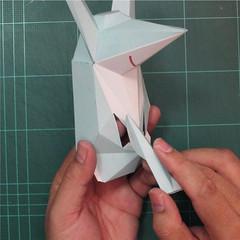 วิธีทำโมเดลกระดาษคุกกี้รันจิ้งจอกเก้าหางในร่างหมาจิ้งจอก (Cookie Run Ninetails Fox Form Papercraft Model) 012
