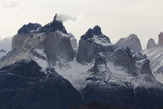 Zoom a los cuernos del Paine