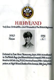 Hyland, Herbert Bright (1894-1916) | by sherborneschoolarchives
