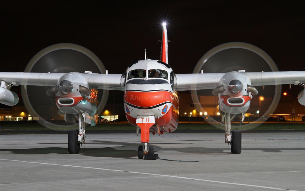 Securite Civile S-2 Firecat F-ZBEW at the Northolt Nightshoot X on 06-10-2011.