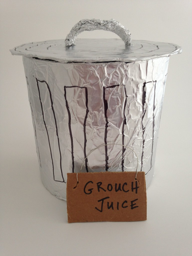 Oscar The Grouch Trashcan Punch Bowl We Served Grouch Jui