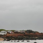 Beach parking lot, Maui