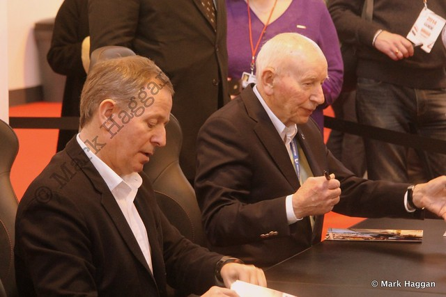 Martin Brundle and John Surtees at the Autosport International Show 2014