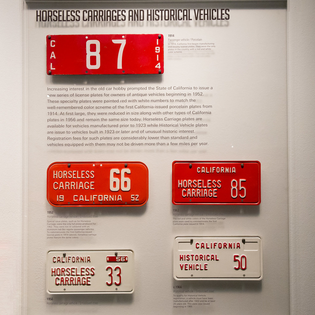California License Plate History >> California License Plates Horseless Carriages And Histor