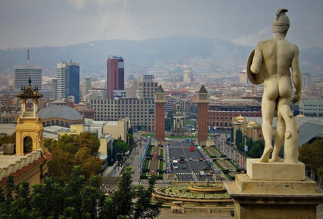 SPANIEN-Barcelona, Blick auf den Plaça de Espanya, 71119/2840