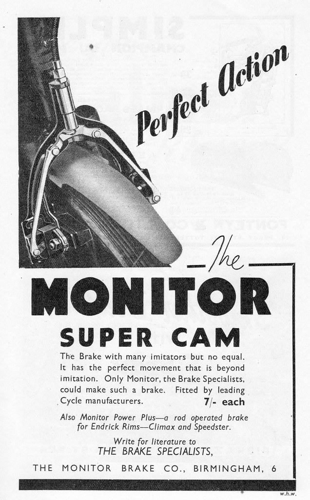 Monitor Super Cam Brakes Advert  | From the 1938 British Bes… | Flickr