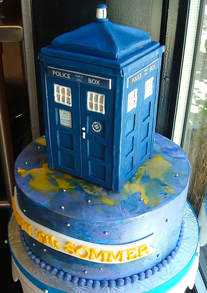 Excellent Dr Who Themed Birthday Cake Sasa Flickr Funny Birthday Cards Online Inifofree Goldxyz