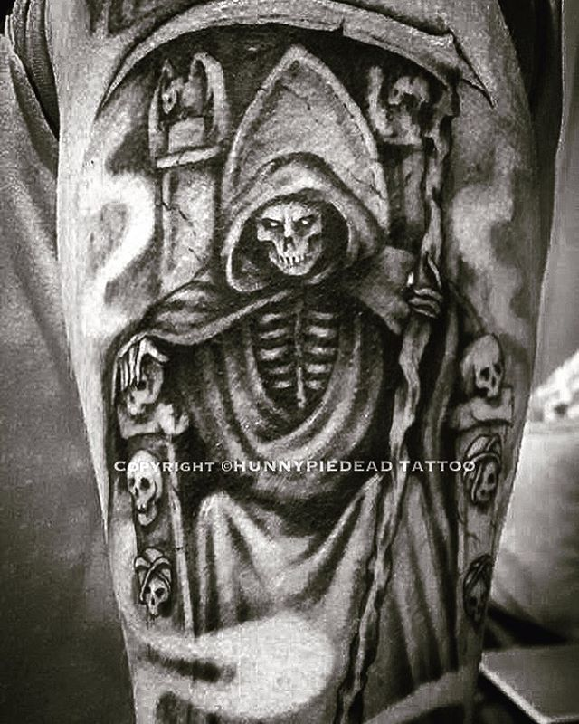 Made a start on a #grimreaper #sleeve a lot still to do! #… | Flickr