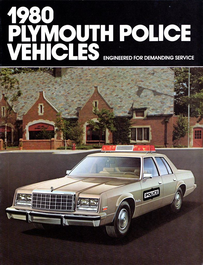 1980 Plymouth Police Vehicles