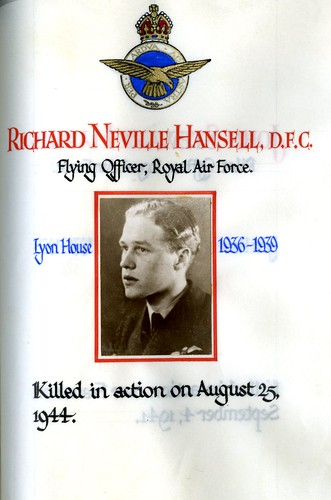 Hansell, Richard Neville (1922-1944) | by sherborneschoolarchives