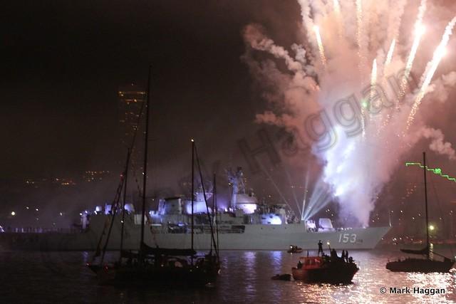 Fireworks to celebrate the International Fleet Review, Sydney, 2013