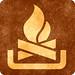 Sepia Grunge Sign - Campfire