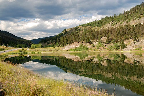 6 Mile Lake, Clinton, Highway 97, Cariboo, British Columbia, Canada