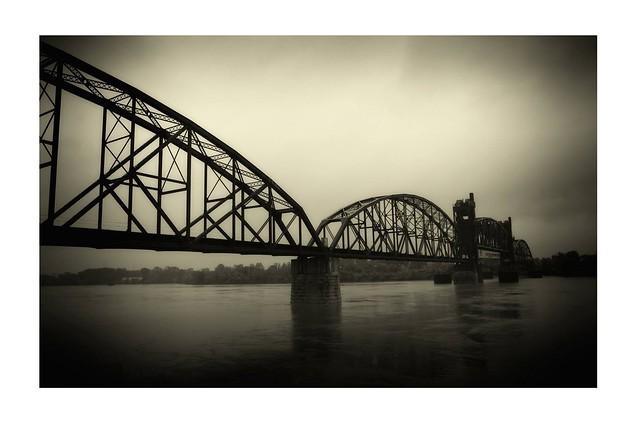 Abandoned rail bridge.