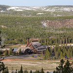 Old Faithful Inn from scenic overlook