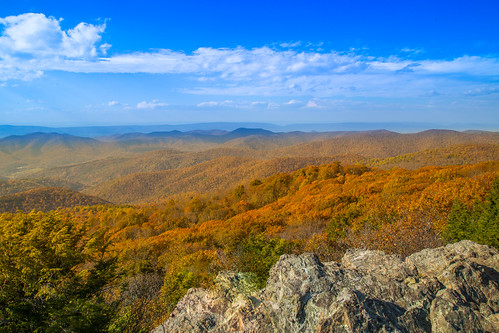 virginia unitedstates us mountain mountains autumn trees clouds shenandoahnationalpark shenandoah bearfence