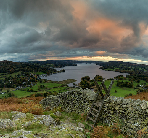canon canon6d cumbria lakedistrict mountains england uk lake windermere sunset sky clouds