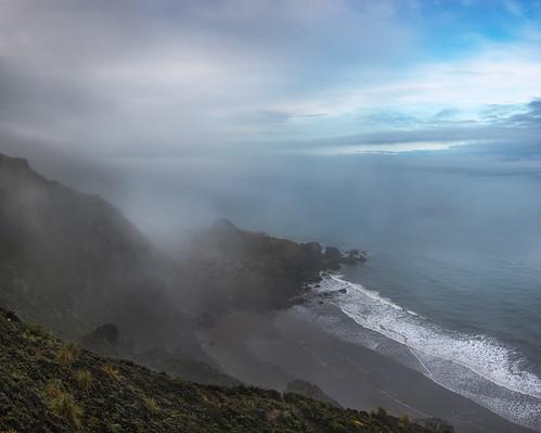ocean sf california morning sea panorama beach fog landscape photography coast photo nikon day waves voigtlander overcast photograph bayarea 40mm stinsonbeach d800 kevinmacleod voigtlander40mmf20 d800e nikond800e unrangedcom