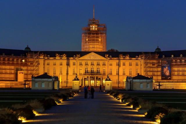 Karlsruhe Castle @ night (during renovation)