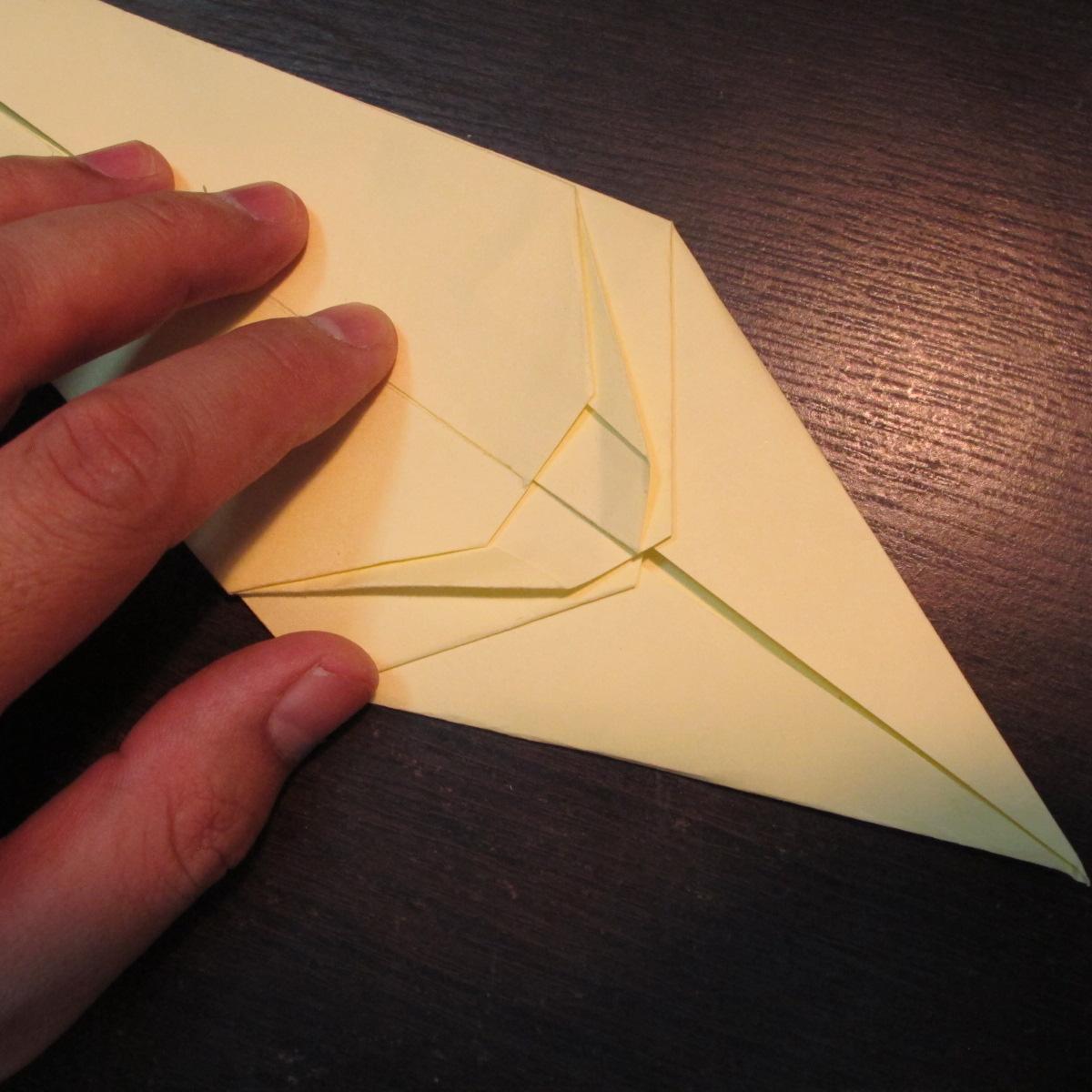 วิธีการพับกระดาษเป็นรูปหงส์ 011