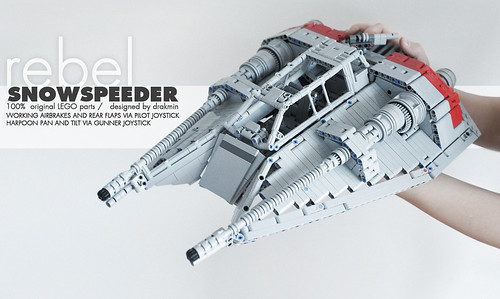 technic lego t-47 airspeeder | by drakmin