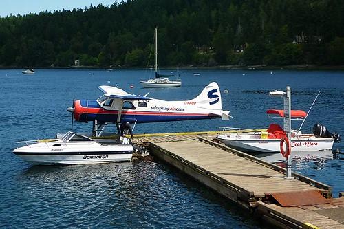 Floatplane at Miners Bay, Mayne Island, Southern Gulf Islands, British Columbia