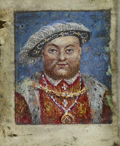 The Penitential and other Psalms - caption: 'Portrait of Henry VIII' | by The British Library