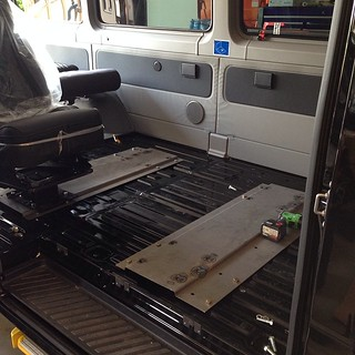 Sprinter conversion  We are changing out the bench seats f