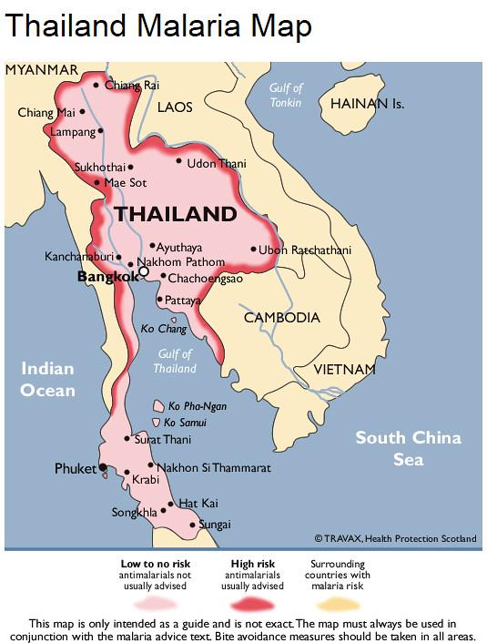 Mapa Da Malaria Na Tailandia Turomaquia Camargo Flickr