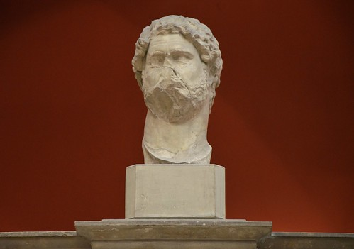 Portrait from an acrolith-statue of the Roman emperor Hadrian, from the Trajaneum in Pergamon, early 2nd century AD, Pergamon Museum Berlin
