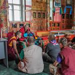 Receiving a Teaching at Gandantegchinlen Monsatery
