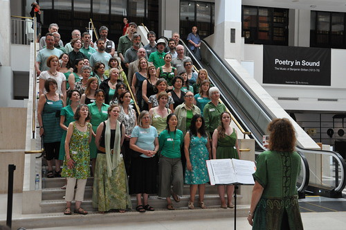 Cecil Sharp House Choir performing at The Full English Discovery Day, British Library, July 2013, photo © EFDSS, photographer Roswitha Chesher