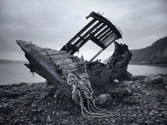 The Remains of 'The Sunflower', Lower Diabeg, Wester Ross