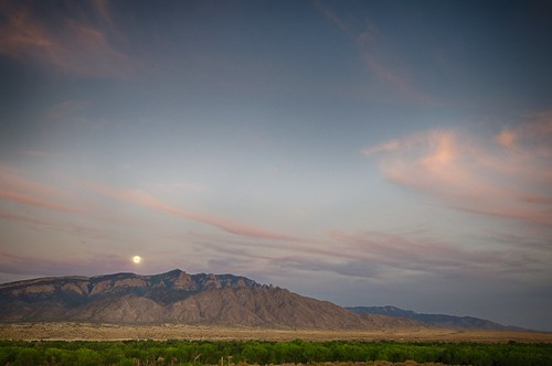 sunset moon mountain clouds day clear sandia supermoon