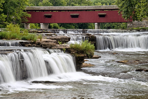 Upper Cataract Falls and Covered Bridge | by rsteup