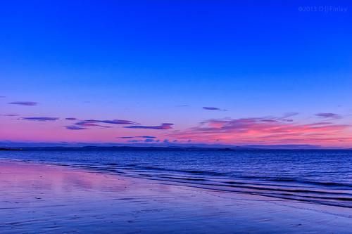 blue light sea orange seascape sunrise canon coast edinburgh purple fife portobello efs efs1022mm portobellobeach canon60d
